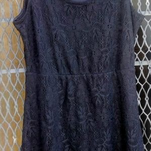 Metaphor Dresses - Petite black lace sleeveless dress